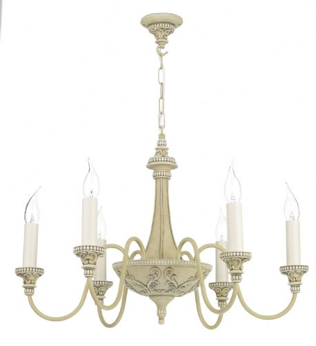 Bailey 6-light Made in the Cotswolds Ceiling Light Antique Cream BAI0645